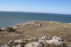 Мы приехали. Наша бухта возле тихого поселка на побережье Казантипского залива.
